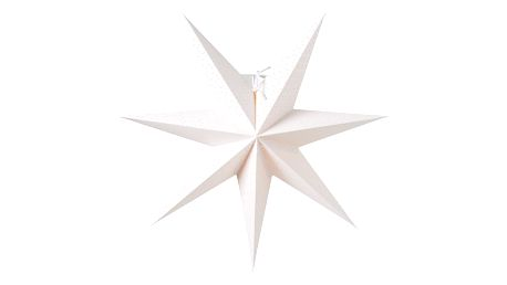 watt & VEKE Závěsná svítící hvězda Aino White 44 cm, bílá barva, papír