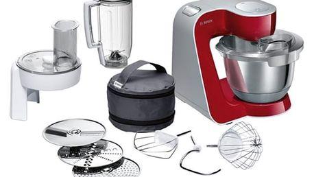 Kuchyňský robot Bosch CreationLine MUM58720 stříbrný/červený + DOPRAVA ZDARMA