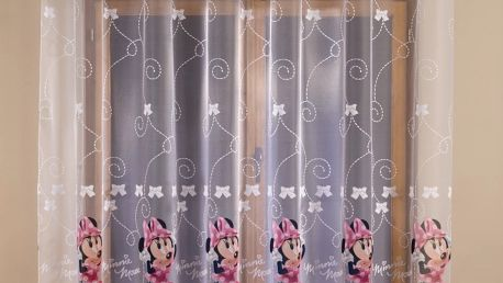 Záclona Disney Minnie Mouse, 300 x 160 cm
