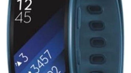 Fitness náramek Samsung Gear Fit2 vel. L (SM-R3600ZBAXEZ) modrý + DOPRAVA ZDARMA