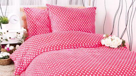 XPOSE ® Francouzské povlečení mikroflanel MARKÉTA - růžová 200x220, 70x90