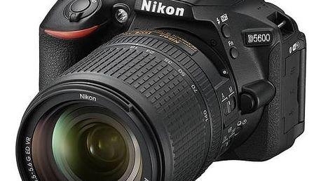 Digitální fotoaparát Nikon D5600 + 18-140 AF-S VR (VBA500K002) černý + Cashback 2600 Kč + Doprava zdarma