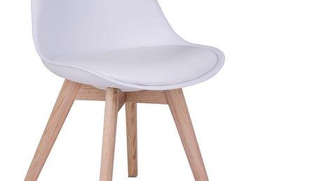 Sada 2 bílých židlí House Nordic Molde - doprava zdarma!