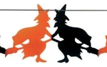 Halloweenská girlanda s motivem čarodějnice
