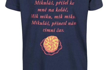 Modré dětské tričko ZOOT Kids Básnička