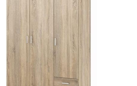 Skříň, 3 - dveřová, dub sonoma, GWEN 70427