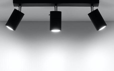 Černé stropní světlo Nice Lamps Ethna3 - doprava zdarma!
