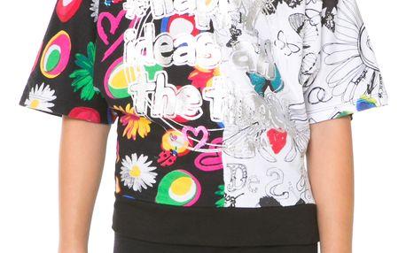 Desigual černé dívčí tričko Wyoming