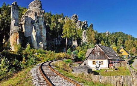 Adršpach aktivně v chatkách s polopenzí – ideální pro turisty a rodiny