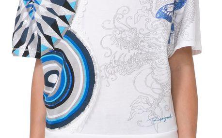 Desigual bílé dívčí triko Montgomerty