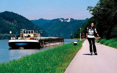 Podunajská cyklostezka na kolech, Horní Rakousy, Rakousko, autobusem, polopenze