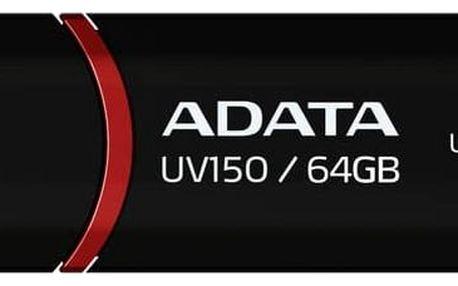 USB Flash ADATA UV150 64GB (AUV150-64G-RBK) černý