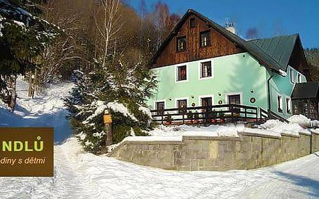 Zimní rodinný pobyt s polopenzí v Krkonoších