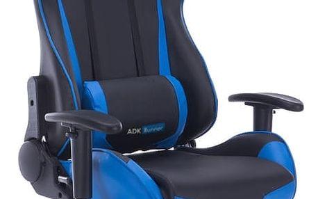 ADK Trade s.r.o. Kancelářská židle ADK Runner, modro-černá