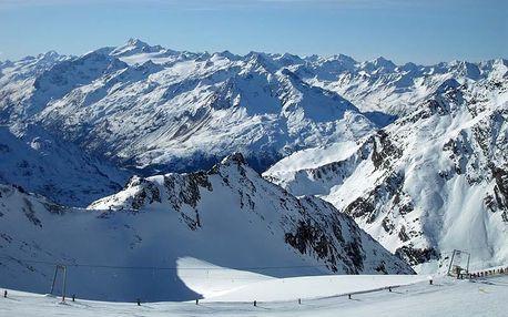 Rakousko, Lyžařské vyvrcholení na Stubaiském ledovci, Tyrolsko, Rakousko, autobusem, polopenze