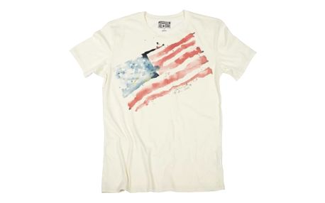 Pánské tričko Converse AWT W20 watercolr flag bílá S