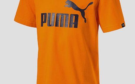 Tričko Puma ESS No.1 Tee Vibrant Orange Oranžová