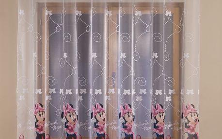 Záclona Disney Minnie Mouse, 300 x 160 cm
