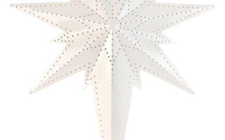STAR TRADING Plechová závěsná hvězda Betlehem, bílá barva, kov