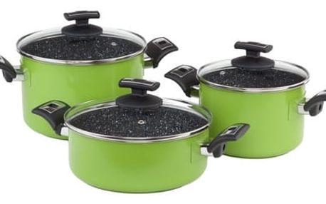 KOLIMAX CERAMMAX PRO COLOR sada nádobí 6 dílů, zelená, granit černá
