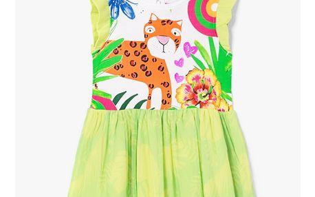 Desigual dětské šaty Silvia s tygrem