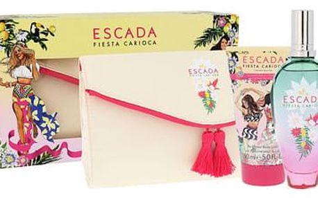 ESCADA Fiesta Carioca EDT dárková sada W - EDT 100 ml + tělové mléko 150 ml + kosmetická taška
