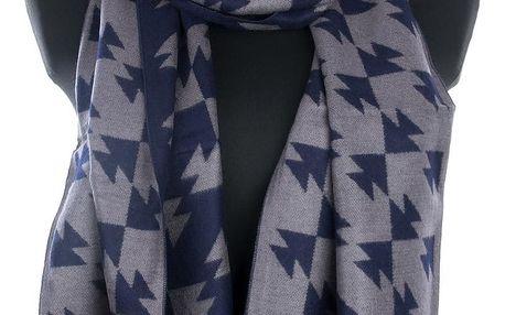 Delfin Pánská šála Trojúhelníky kašmír - pašmína