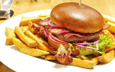 Burgerové menu a případně degustace tří piv
