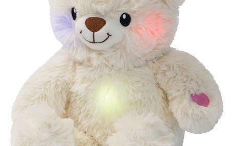 WIKY Svítící a hrací medvídek 25 cm