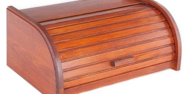 KOLIMAX Dřevěné výrobky box na pečivo 42 cm buk, barva mahagon