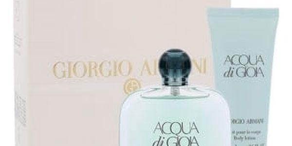 Giorgio Armani Acqua di Gioia dárková kazeta pro ženy parfémovaná voda 100 ml + tělové mléko 75 ml
