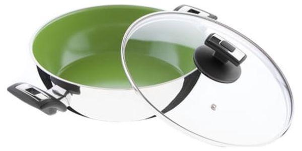 KOLIMAX CERAMMAX PRO COMFORT pánev 26 cm s úchyty, se skleněnou poklicí, vysoká, zelená