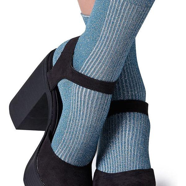 Tyrkysové třpytivé ponožky Gipsy