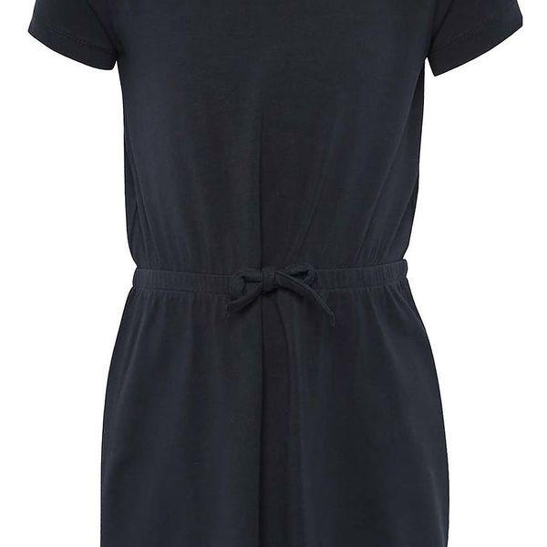 Tmavě modré holčičí šaty s krajkou na zádech name it Ida