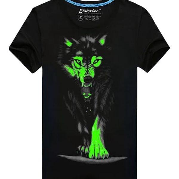 Triko s vlkem pro pány - svítí ve tmě
