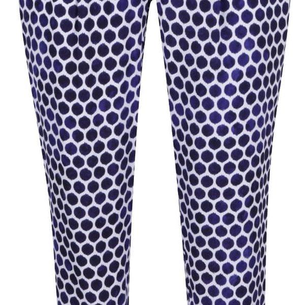 Bílo-modré dámské volné puntíkované kalhoty Tom Joule Anice