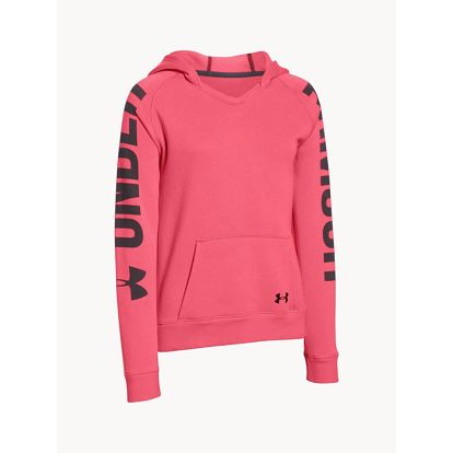 Mikina Under Armour Favorite Fleece Hoody Růžová
