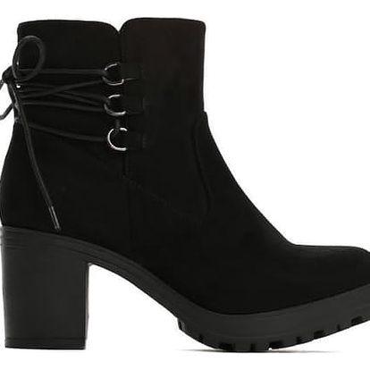 Dámské černé kotníkové boty Litzy 2105