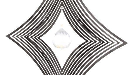 Závěsná dekorace Cosmo Spinner pseudosféra s krystalkem