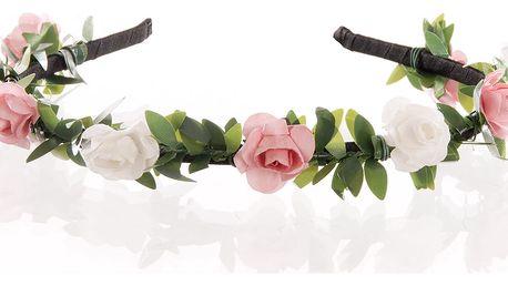 Čelenka do vlasů slavnostní růžičky pevná