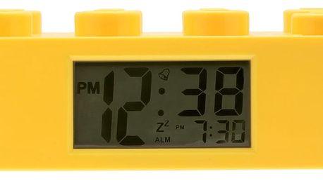 Žluté hodiny s budíkem LEGO® Brick - doprava zdarma!