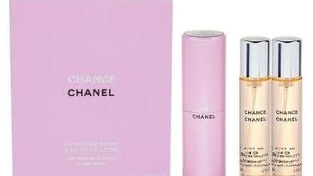 Chanel Chance 3x 20 ml 20 ml toaletní voda Twist and Spray pro ženy