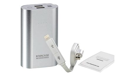Power Bank RivaCase RivaPower VA1010 10000mAh (RP-VA1010) stříbrná