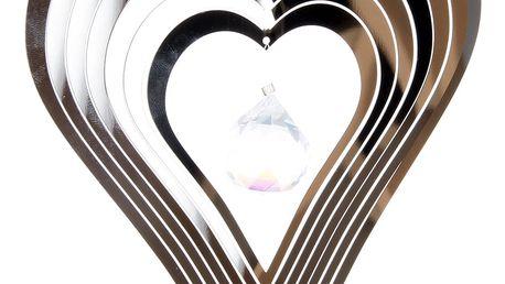 Závěsná dekorace Cosmo Spinner srdce s krystalkem