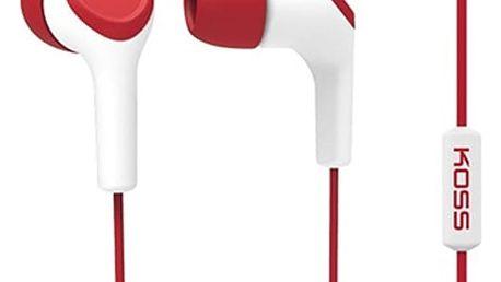 Sluchátka Koss KEB/15i (doživotní záruka) červená