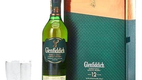 Whisky Glenfiddich 12YO 0,7l 40%+2xSklo dárkové balení