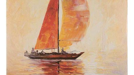 Obraz na stěnu - Loďka za západu slunce