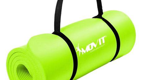 Gymnastická podložka MOVIT 190 x 60 x 1,5 cm sv. zelená