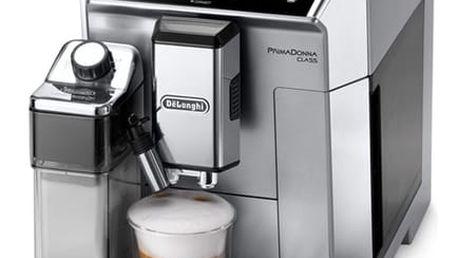 Espresso DeLonghi PrimaDonna ECAM 550.75.MS stříbrné + DOPRAVA ZDARMA
