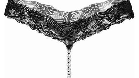 Dámská extravagantní tanga s umělými perličkami - dodání do 2 dnů